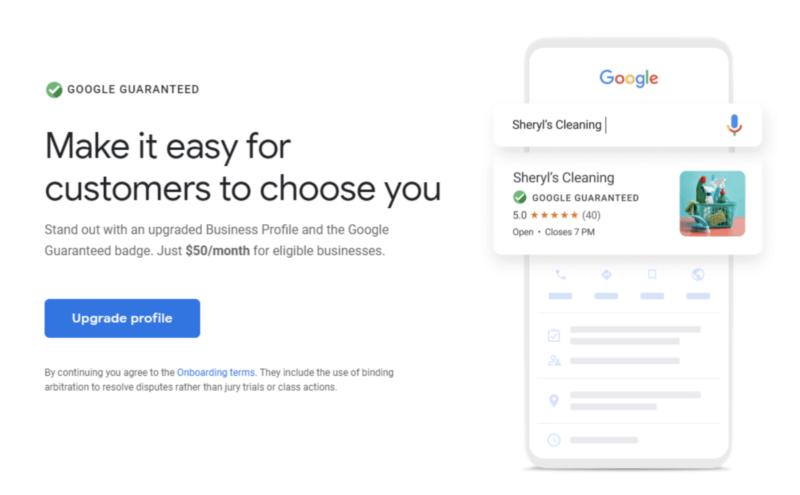 Google Guarantee Badge Preview